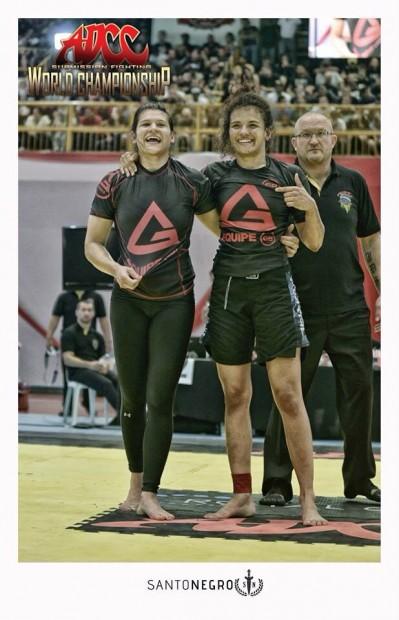 Ana Laura e Jéssica Oliveira comemoram a final
