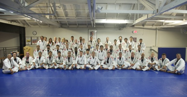 The traditional group picture was taken right before the heavily-anticipated sparring session that followed the class day.