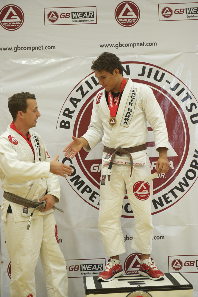 Lucas Rocha celebrating at the podium!!