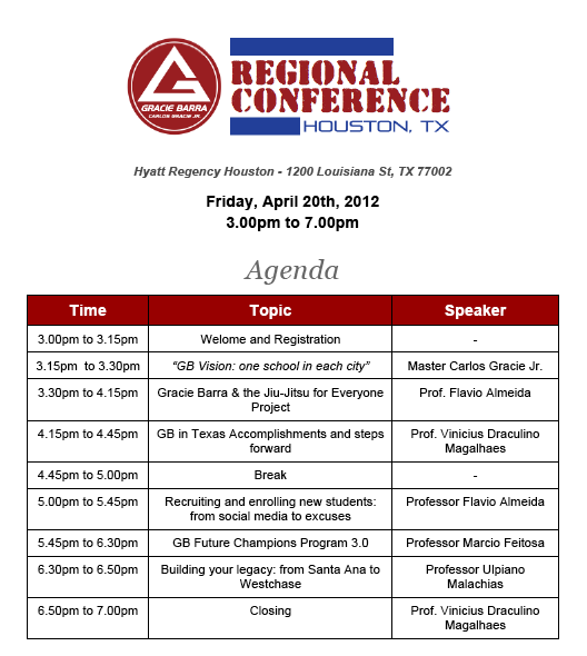 GB JiuJitsu final agenda Houston, Tx.