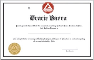 GB no bullying certificate