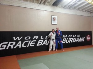 'Professor Crane and Stefan after training at GB Burbank
