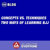 Concepts vs. Techniques - Two Ways of Learning BJJ